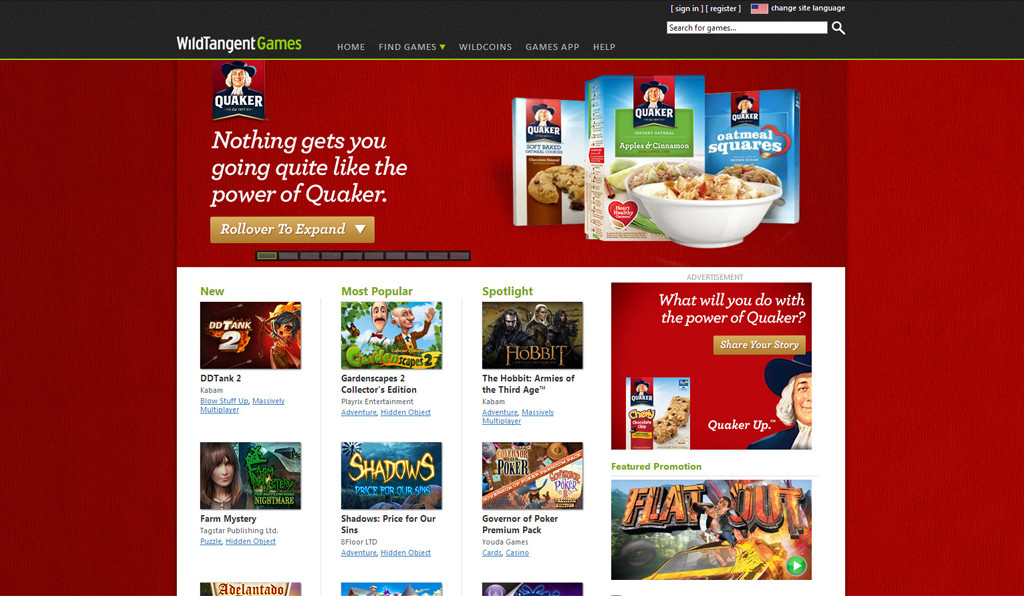Quaker Oats Advergame 01