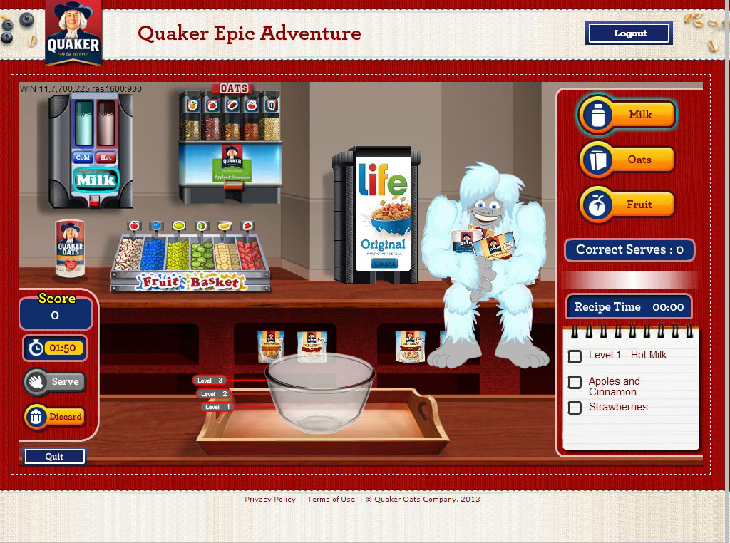 Quaker Advergame -4